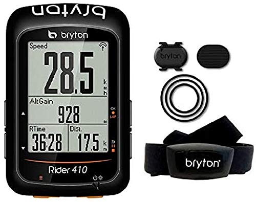 Bryton Rider 410T GPS Ciclismo, Negro, 2.3