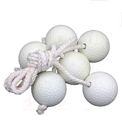 Conveniente Juego de 3 Juegos de reemplazo Bolo de Ladderball Bolas para niños, de Goma Blanda Segura o Dura, de Bolas de Golf. Durable (Color : Blanco, tamaño : 3pcs)
