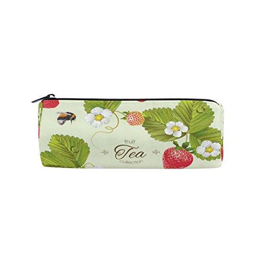 Jeansame Potlood Cases Bag Pouch Box Houder voor School Kids Meisjes Jongens Leuke Aardbei Thee Fruit Bijen