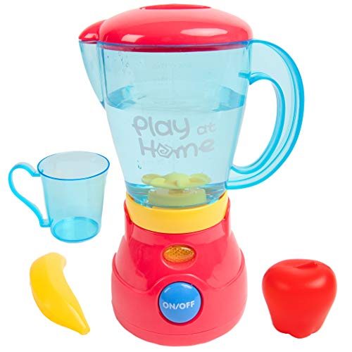 Toy Chef Play Kitchen Appliances – Premium Pretend Blender for Kids– Red and Blue Themed Toddler Kitchen Accessories – Cool Present for Girls and Boys Massachusetts