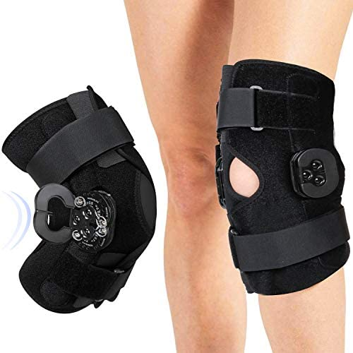 OneBrace Hinged Knee Brace Support with Bending Extension Adjustment Dial Knee Support for ACL product image