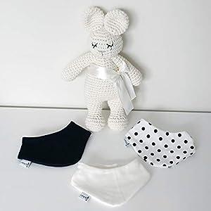 3er Set Halstücher – Navy/Weiß/Weiß Navy Punkte Baby Junge Baby Mädchen Halstuch Spucktuch Lätzchen