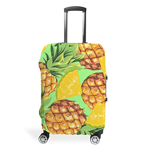 Zhcon Bagage Cover Wasbaar Mode Spandex Bagage Koffer Cover Stof-Proof Case Ananas Fruit Print