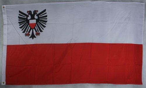Flagge Fahne ca. 90x150 cm : Lübeck Stadtflagge Lübeckflagge lübecker