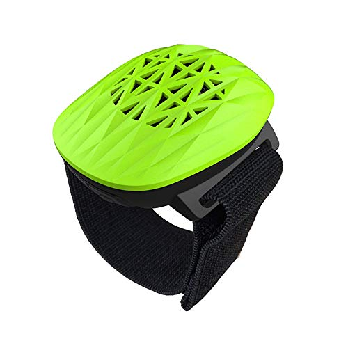 WowHo Portable Bluetooth Speakers, Wireless Bluetooth Speakers Wrist Band 10Hours Playtime and 100Hours Standby Time Waterproof Outdoor Speakers for Running Yoga Race Walking Gym Exercise (Green)