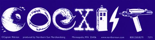 Northern Sun Science Fiction Coexist - Magnetic Bumper Sticker/Decal Magnet (11.5' X 3')