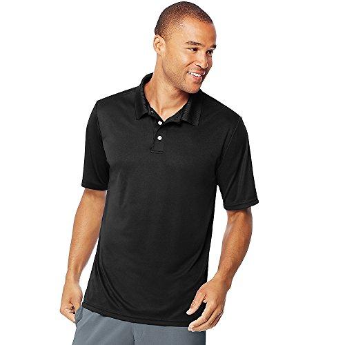 Hanes Herren bequem Performance Polo Shirt - schwarz -