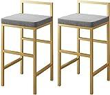 DEYLK Taburetes de Bar Modernos, Juego de 2 sillas de Bar de Altura de mostrador...