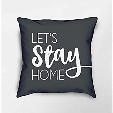 Let's Stay Home Pillow, Throw Pillow With Words, Housewarming Gift, Newlywed Gift, Quote Pillow, Decorative Pillows, Modern Farmhouse