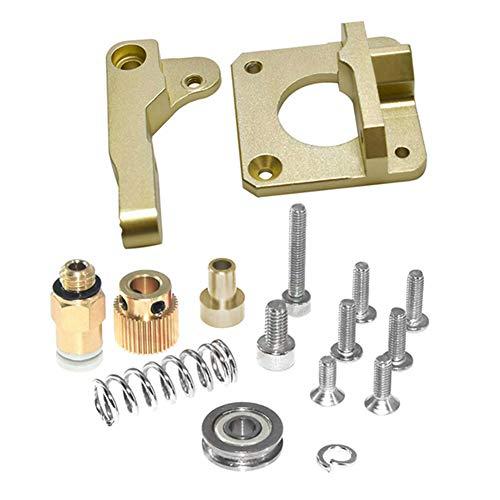 Harwls 3D Printer vervanging metalen onderdelen extruder aluminium legering blok frame DIY kit, left, Champagne Goud