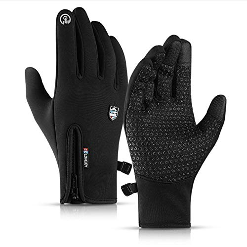 N\X Cycling gloves-35degrees winter warm mountain bike cycling gloves snowboarding cycling gloves touch screen waterproofcycling glovesXLblack