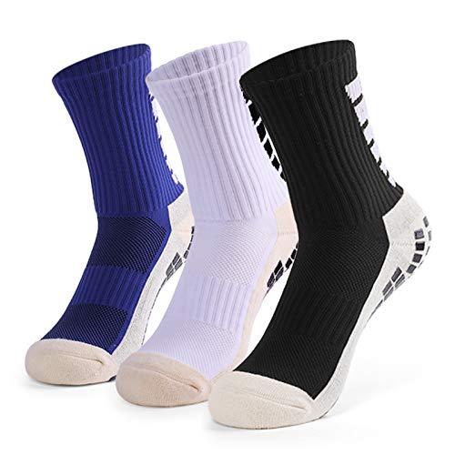 Lixada Die rutschfesten Running Fußball-Socken, der Männer tragen Fußball-hohe Schlauch-Socken 1 Paar / 3 Paar zur Schau