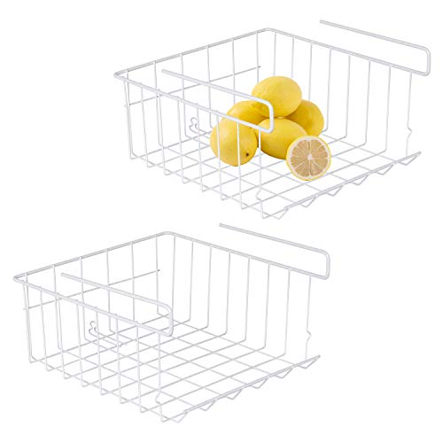 Sanlinkee Under Shelf Baskets, Household Under Shelf Hanging Basket for Organizing Kitchen Cabinets, Cabinet, Pantries - 2 Pack, 12.8' × 11.6' × 6.5'