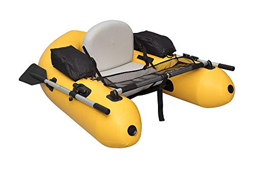 Wistar Fishing Inflatable Rafts Pontoon Float Tube Boat Set with Aluminum Oars and High Output Air Pump and Water Inflatable Rafts Single Person Only