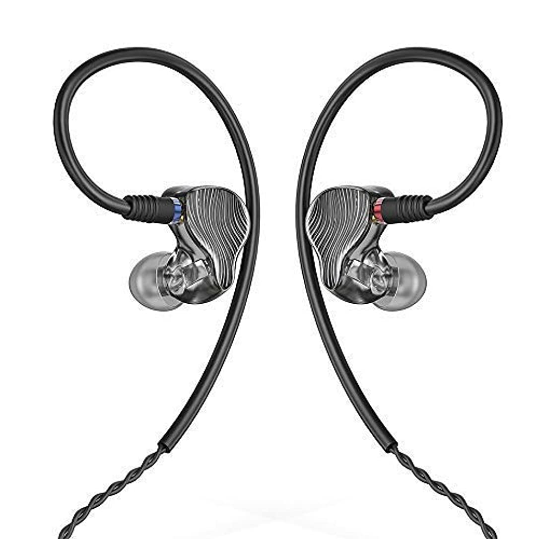 FiiO FA1 Over The Ear Headphones/Earphones Detachable Cable Design HiFi Single Balanced Armature Driver Earphones for iOS and Android Computer PC Tablet Swirl (Smoke) yfzzzrezuuvhbwl5