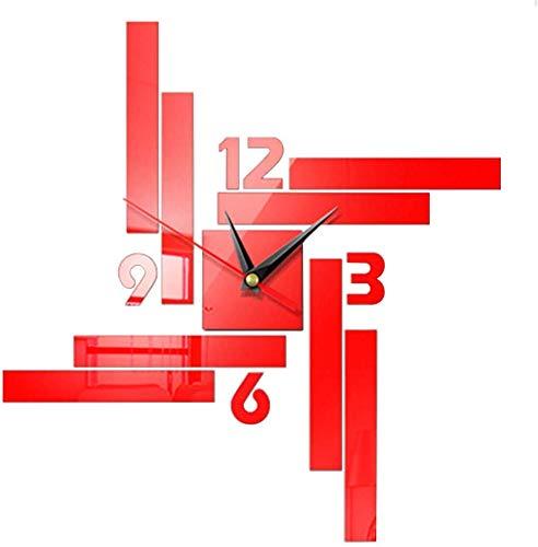 Fayeille Bricolaje Reloj de Pared Acrílico 3D Espejo Adhesivo Pared Creativo Pared...