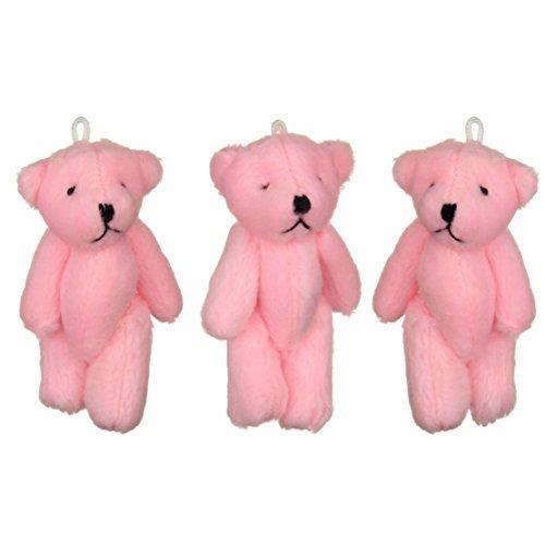 NEW Cute And Cuddly Little Pink Teddy Bear X 3 - Gift Present Birthday Xmas