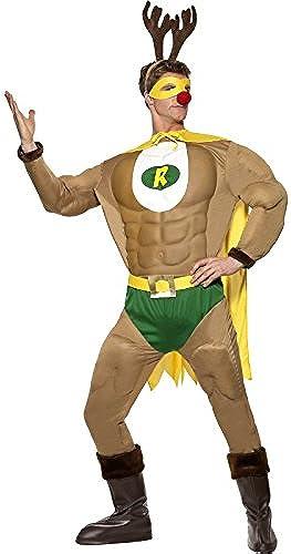 Super Rentier Muskelanzug Weißnachten Rentierman Superheld GrM