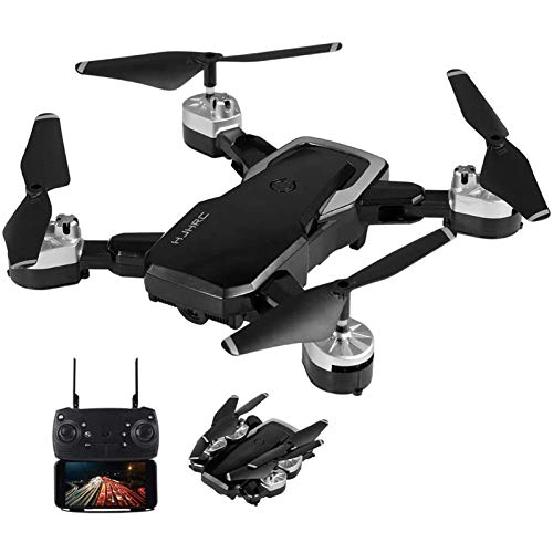KLJJQAQ RC Drone with 720P Camera WiFi FPV Drone Altitude Hold Gesture Photo/Video Foldable RC Quadcopter for Beginner Training