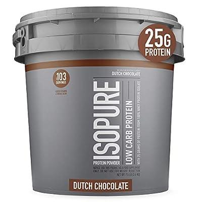 Isopure Zero Carb, Keto Friendly Protein Powder, 100% Whey Protein Isolate by Isopure