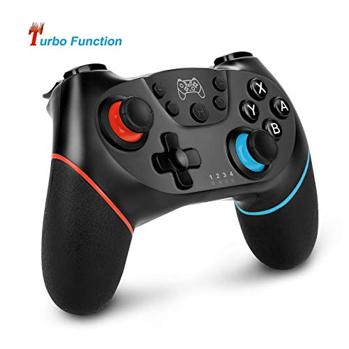 Nintendo Switch Controller für Nintendo Switch/Switch Lite, Sendowtek Bluetooth Wireless Nintendo Switch Spiele, Turbofunktion Dualshock 6-Achsen Somatosensorisches wiederaufladbares