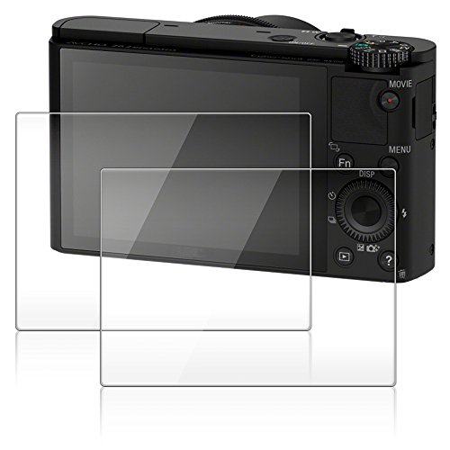 Protector de Pantalla para Cámara Sony RX100III RX100II RX100 IV RX 1R RX10 III, AFUNTA 2 Paquetes Anti-Arañazos de Cristal Templado óptico para Sony RX100 Mark III DSC-RX100M5