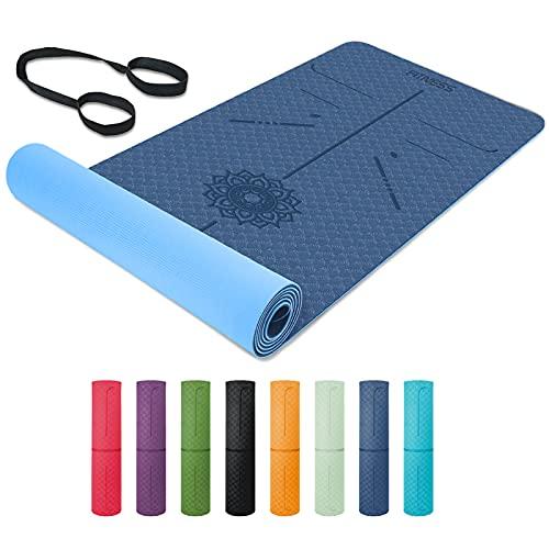 Tapis de Yoga, 6mm Antidérapant Tapis d