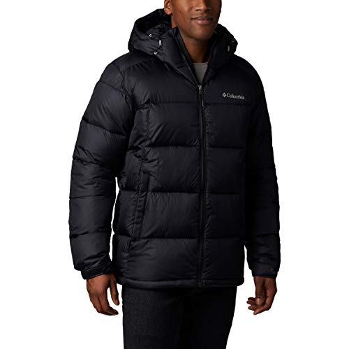 Columbia Men's Pike Lake Hooded Winter Jacket, Water repellent & Breathable, X-Large, Black