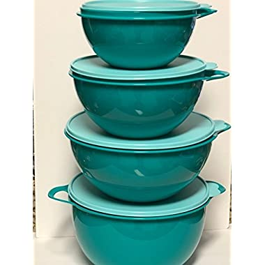 Tupperware Thatsa Bowl 4 Piece Set in Teal
