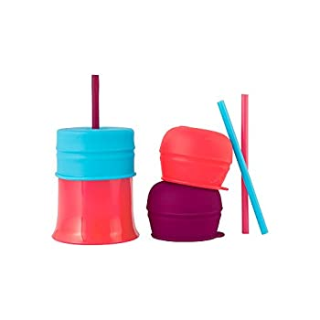 Boon SNUG Straw with Cup Pink/Purple/Blue