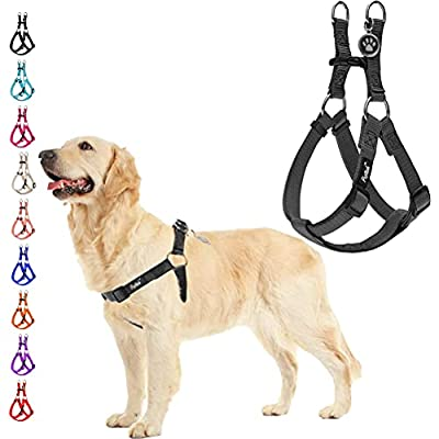 No Pull Dog Harness Reflective Adjustable Basic Nylon Step in Puppy Vest Outdoor Walking with ID Tag from Beibao
