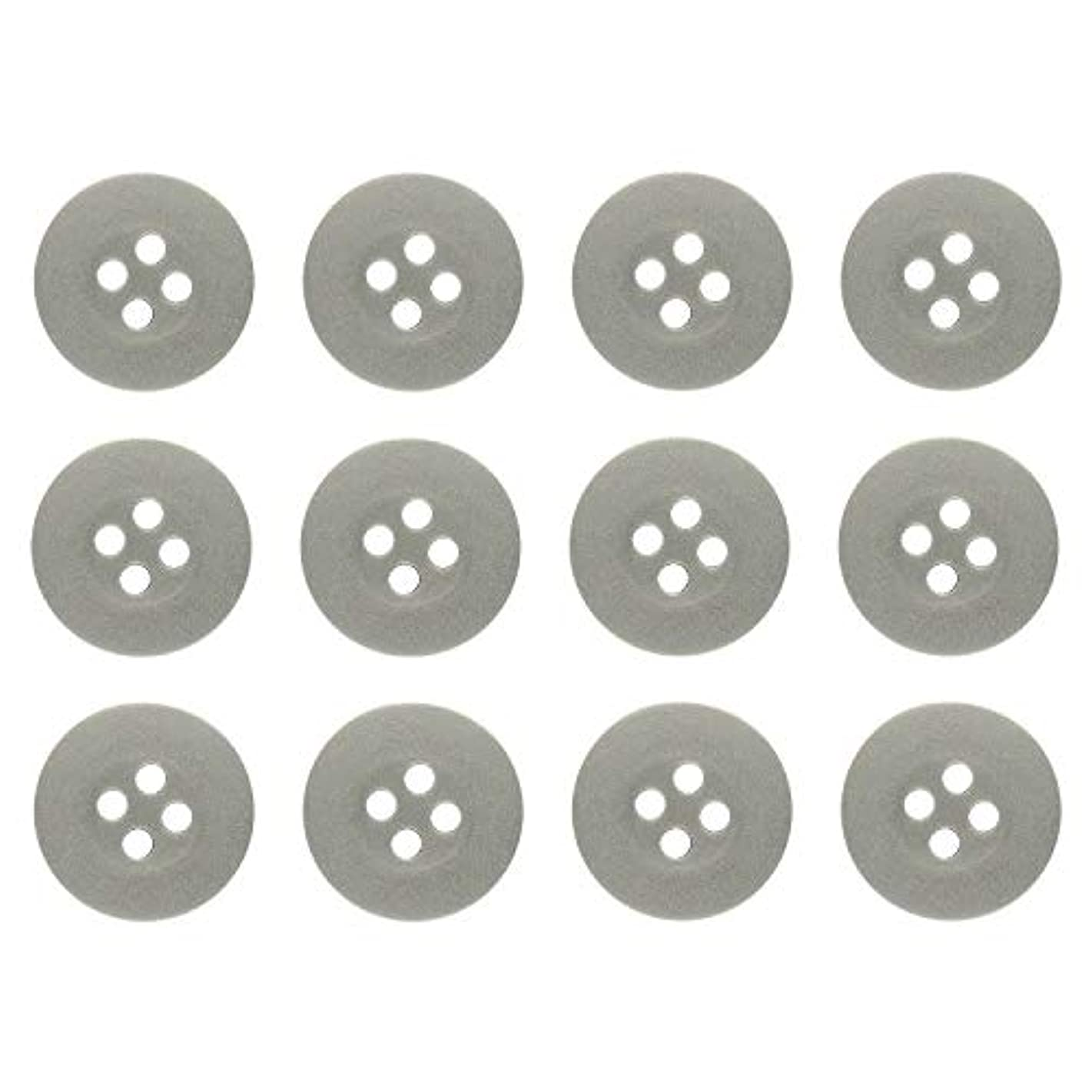 ButtonMode Khakis, Chinos and Cotton Pants Buttons Set Includes 1-Dozen Buttons Measuring 15mm (5/8 Inch), Dark Tan, 12-Buttons