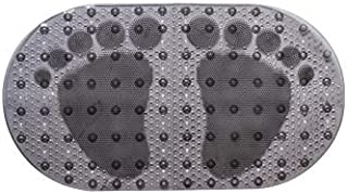DFL Bath Tub Mat, Extra Long 27 x 16 Inches Non-Slip Shower Mats with Suction Cups and Drain Holes, Bathtub Mats Bathroom Mats Machine Washable (Black)