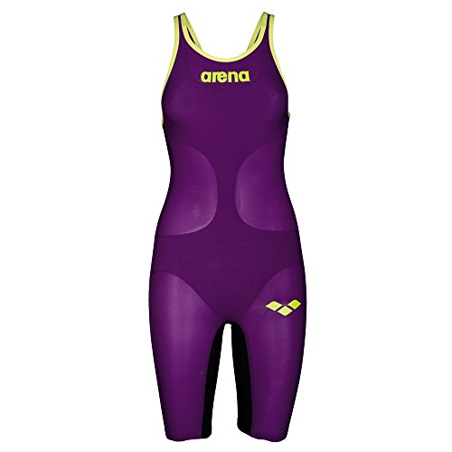 Arena Damen W pwsk Carbon Air fbslc Badeanzug, Rosa (Pflaume / fluo), 34