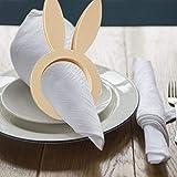 Set di 10 anelli portatovaglioli a forma di coniglio, tovaglioli, tovaglioli, decorazione da tavolo per la primavera e la Pasqua