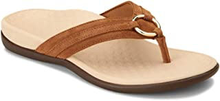 Vionic Women's Tide Aloe Toe-Post Sandal - Ladies Flip- Flop with Concealed Orthotic Arch Support