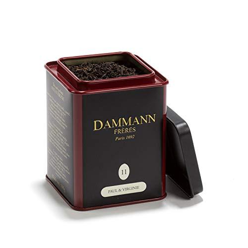 Pasticceria Passerini dal 1919 Dammann Paul & Virginie 11 - Té Negro al Caramelo con Frutos Rojos y Vainilla, Lata de 100 gr - Dammann Frères