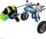 MJY Suministros para perros mascotas Cama para perros Pet Shop silla de ruedas, Vespa, hecha de aleación de plomo, ligero y duradero asiento de coche para mascotas (Talla: XS),S