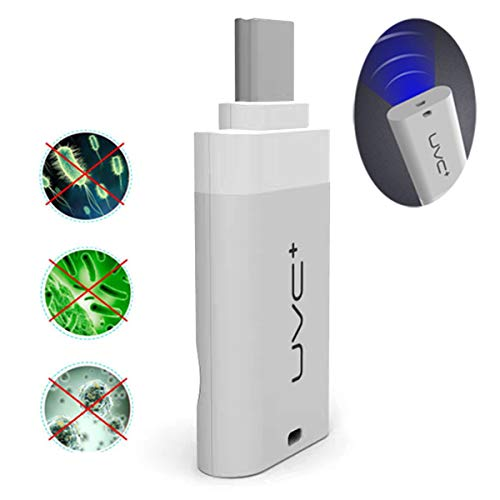 UV-Kiemdodende Draagbare Desinfectielamp Voor Mobiele Telefoons Makkelijk Te Gebruiken Op Elk Moment Sterilisatiegraad 99,9%,White,Android
