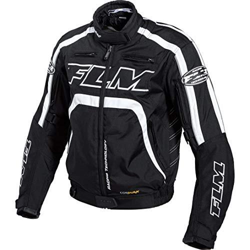 FLM Motorradjacke mit Protektoren Motorrad Jacke Sports Damen Textiljacke 2.0 schwarz/weiß L, Sportler, Ganzjährig