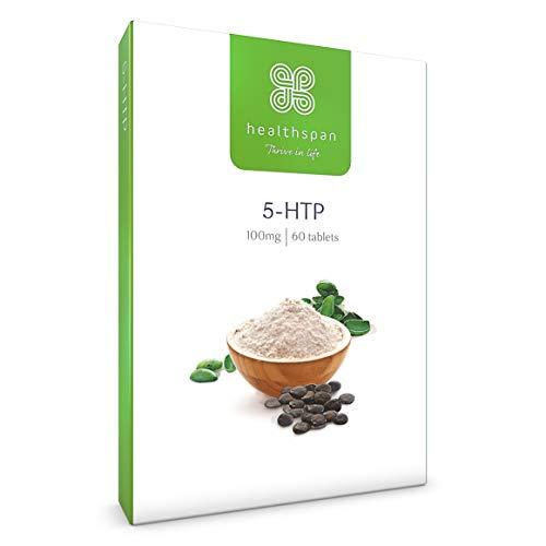 5-HTP 100mg | Healthspan | 60 Tablets | with Vitamin C | Zinc | Vitamin B6 | Vitamin B3 | Biotin | Folic Acid | Vegan