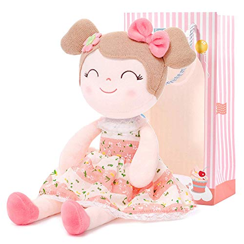 Gloveleya Puppen Babypuppen Weiche Stoffpuppe Puppe Geschenke für mädchen Alter 0+ Rosa