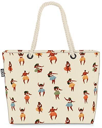 VOID Bailarina Hawaiana Bolsa de Playa 58x38x16cm 23L Shopper Bolsa de Viaje Compras Beach Bag Bolso