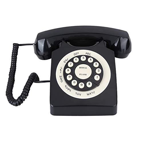 WSZMD Teléfono Pared Retro Teléfono De La Vendimia Teléfono De Escritorio De La Línea Fija con Cable De Alta Definición para La Decoración De La Oficina del Hogar Teléfono Retro (Color : Black)