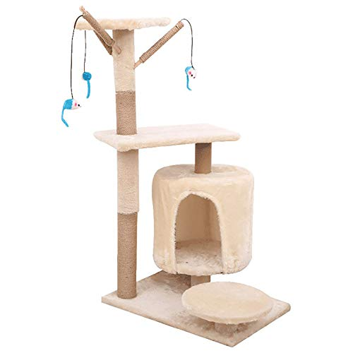 ZXCVASDF Cat Tree, Cat Tower with Scratching Posts, Multi-Level Cat Condo,Cat House Furniture with Jump Platform,Activity Tree Center with Funny Toys