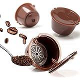 SHTSH 3 Piezas Reutilizables Nescafé Dolce Gusto Café cápsula de Filtro Copa Recargable Caps Cuchara Cepillo cestas de Filtro Pod Suave Sabor Dulce