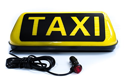 Taxi Dachzeichen Magnetfuß Dachschild Personenbeförderung Taxi Fackel LED Roof Sign Dachlicht