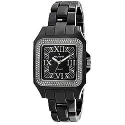 Black Square Case with Swarovski Crystal Bezel and Bracelet