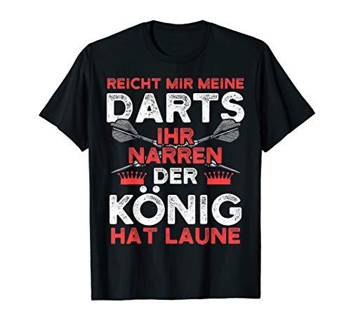 Herren Lustiges Dart T-Shirt I Reicht mir meine Darts König Laune
