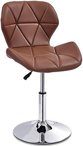 CHINA-Tabouret Bar cuisine petit déjeuner salle à manger chaise peut soulever haut et bas haut tabouret pivotant Business Hall chaise brun /& (taille : B)